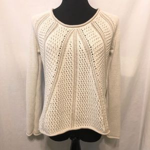 Calvin Klein Jeans Cream Tan Knit Sweater Size M